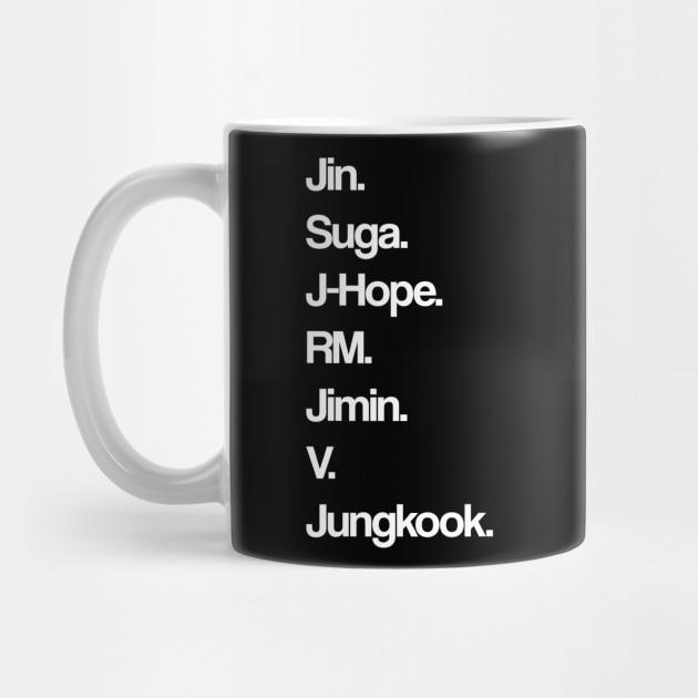 BTS - Members Stage Names by bystanders