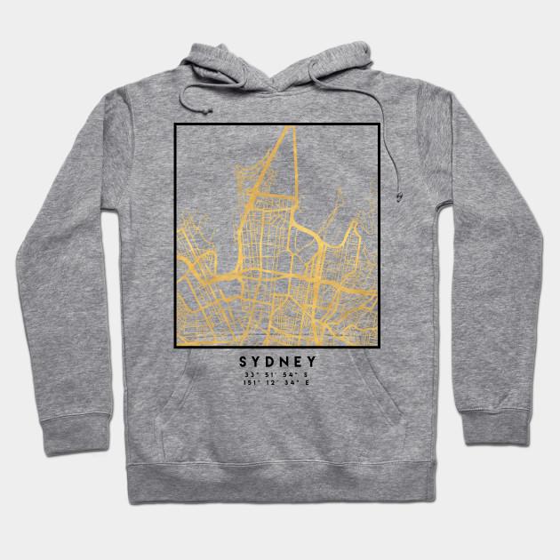 Sydney Australia Map City.Sydney Australia City Street Map Art Sydney Hoodie Teepublic
