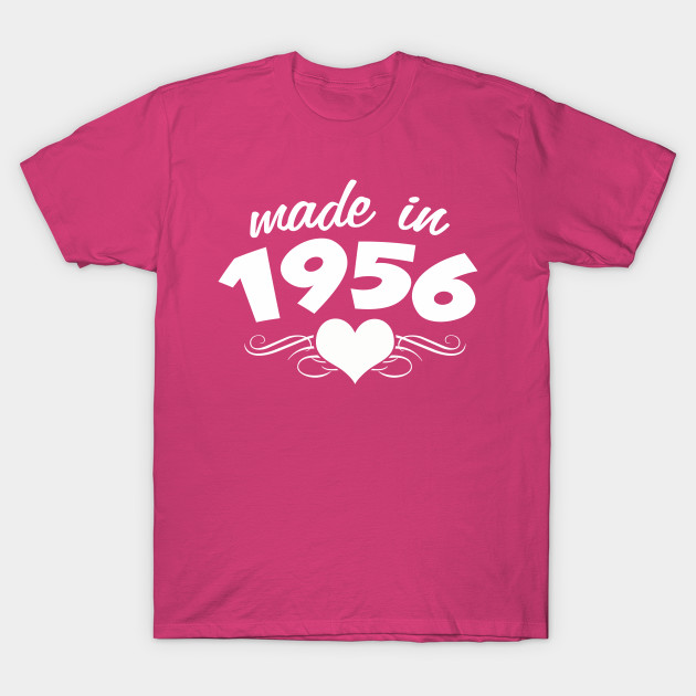 60th Birthday Gifts For Women Made In 1956 Heart Design 60 Shirt T