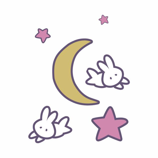 Sailor Moon Usagi Stars Bunny Moon Tshirt