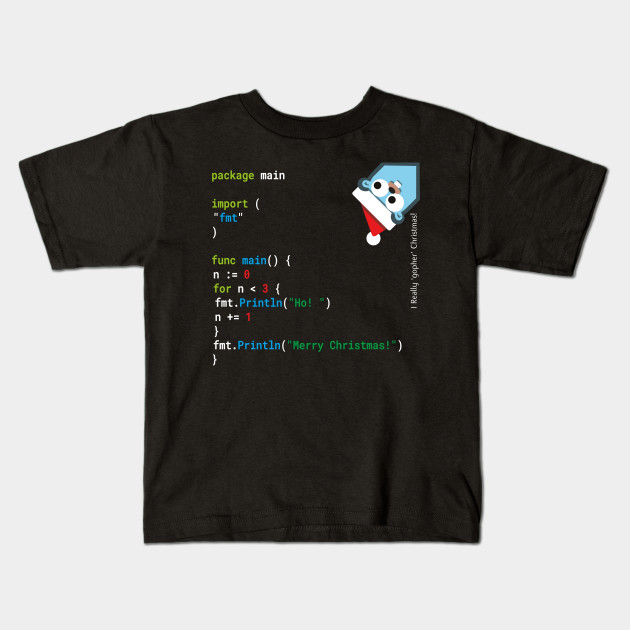 38a4208b4 Ho! Ho! Ho! - Merry Christmas - Go / Golang Geek Design [Version 2 ...
