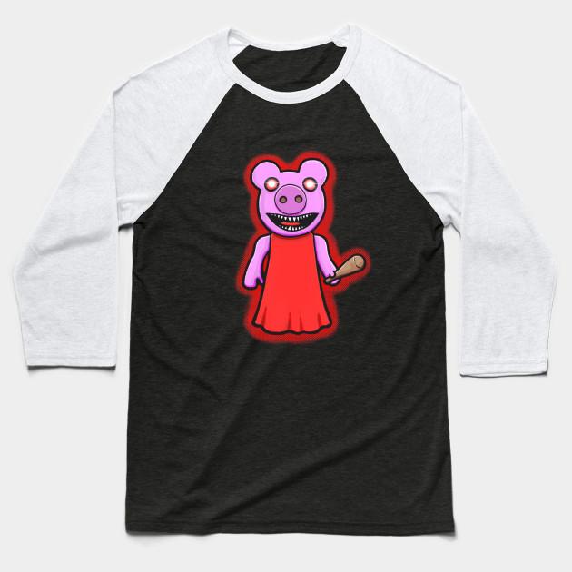 Creepy Piggy Roblox Baseball T Shirt Teepublic