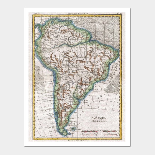 Vintage map of south america 1780 south america map wall art 2011278 1 gumiabroncs Gallery