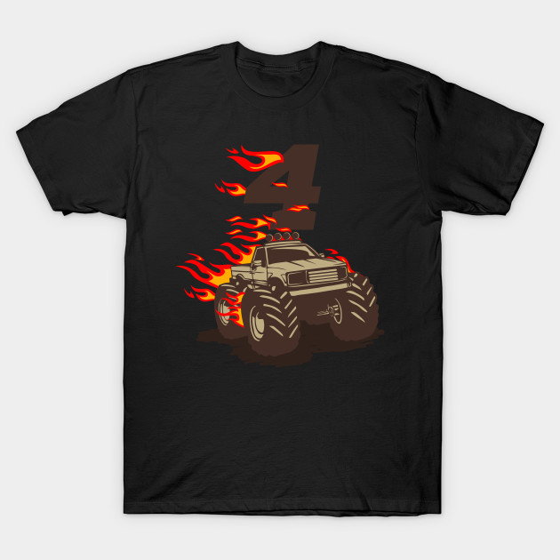 Monstertruck With Flames Gifts For 4 Year Old Boy