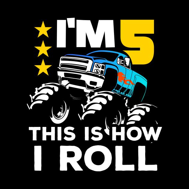 Monster Trucks 5th Birthday Gift | Big Trucks