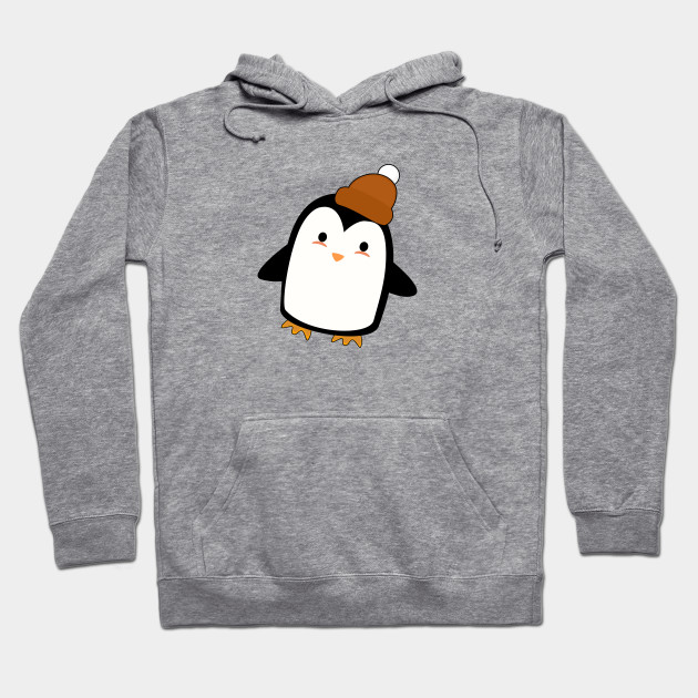 ad5987d8f7c Kawaii Penguin with a beanie - Penguin - Hoodie