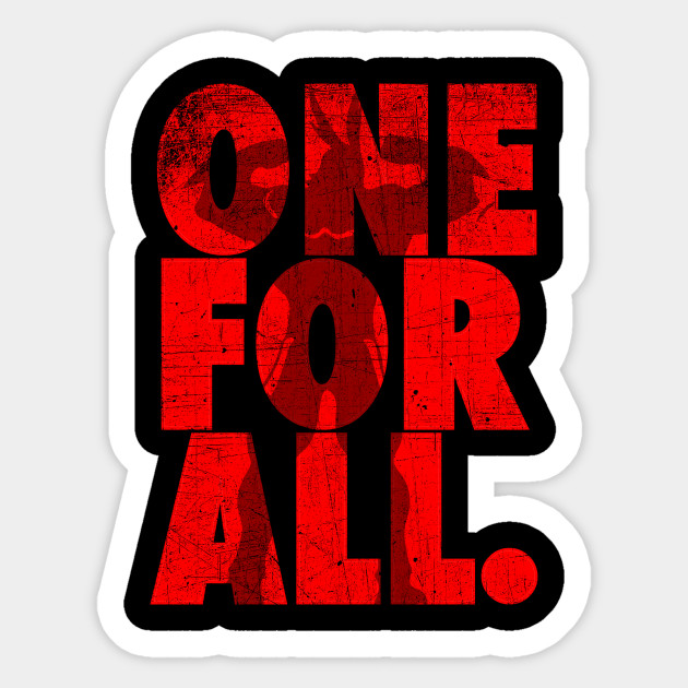 all might one for all my hero academia sticker teepublic. Black Bedroom Furniture Sets. Home Design Ideas