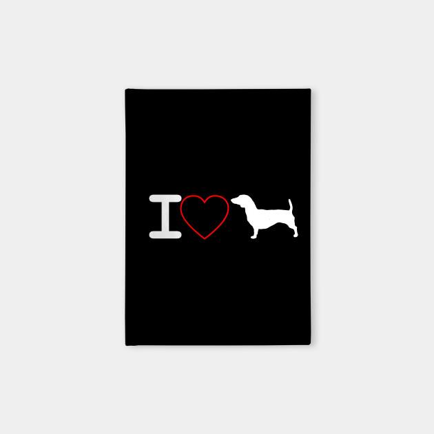 I Love Dachshund Gift Idea Dog Lover Notebook