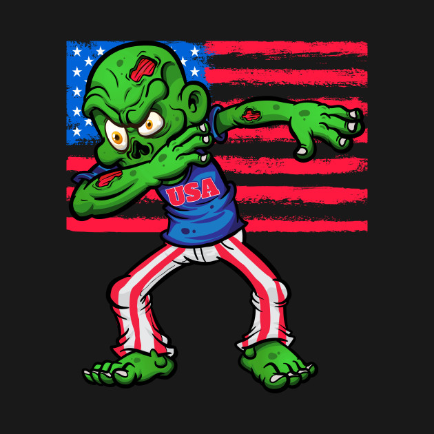 4th Of July Patriotic Zombie