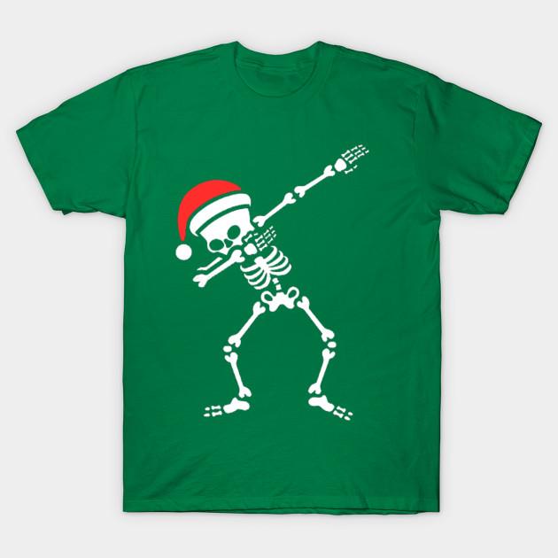 a245a0d5 Dabbing Christmas Skeleton - Christmas - T-Shirt | TeePublic