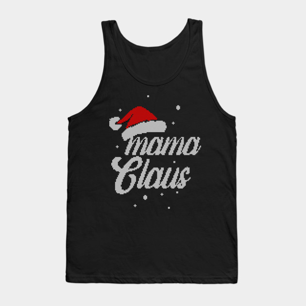 Christmas Santa Hat - Women Mama Clause Gift For Mother Tank Top