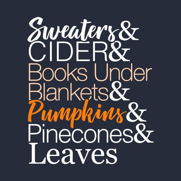 Fall List T-Shirt for Autumn