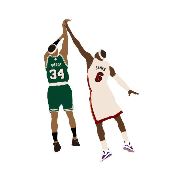Paul Pierce Shot Over LeBron James