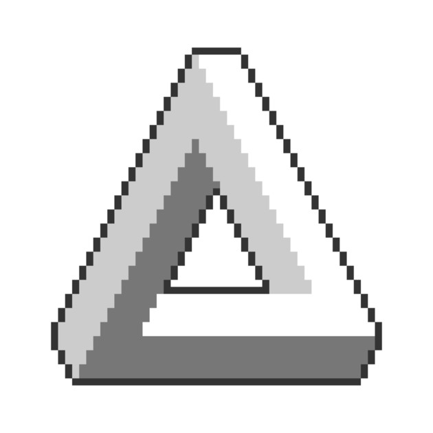 how to draw the never ending triangle