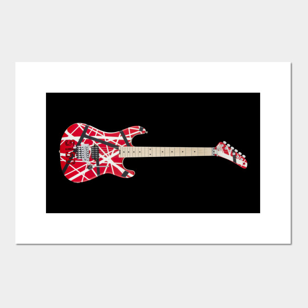 Eddie Van Halen S 5150 Guitar Van Halen Posters And Art Prints Teepublic