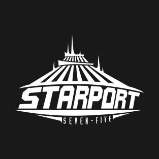 Space Mountain Starport Seven-Five t-shirts