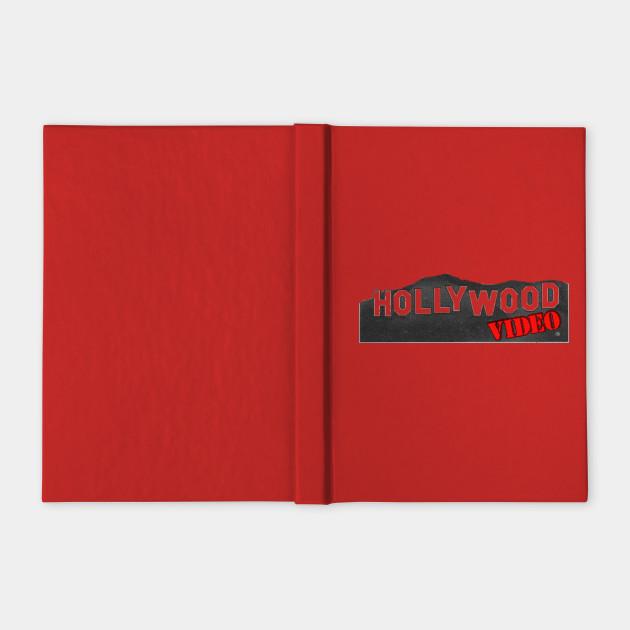 hollywood video logo - video store - notebook | teepublic