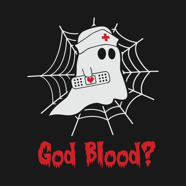 God blood Boo boo Crew Nurse Funny Halloween Tshirt