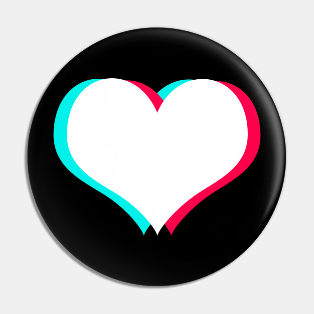 Tiktok Heart White Tiktok Love Pin Teepublic