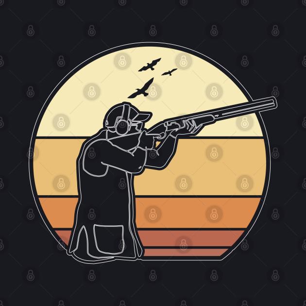 Round retro clay pigeon shooting