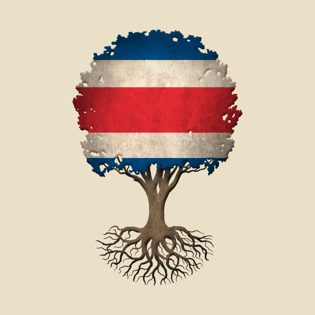 Tree of Life with Costa Rican Flag