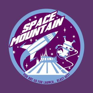 SPACE MOUNTAIN (purple and blue) t-shirts