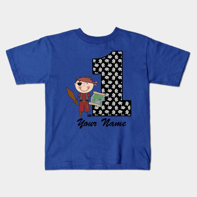 First Birthday Boy Pirate Kids T Shirt