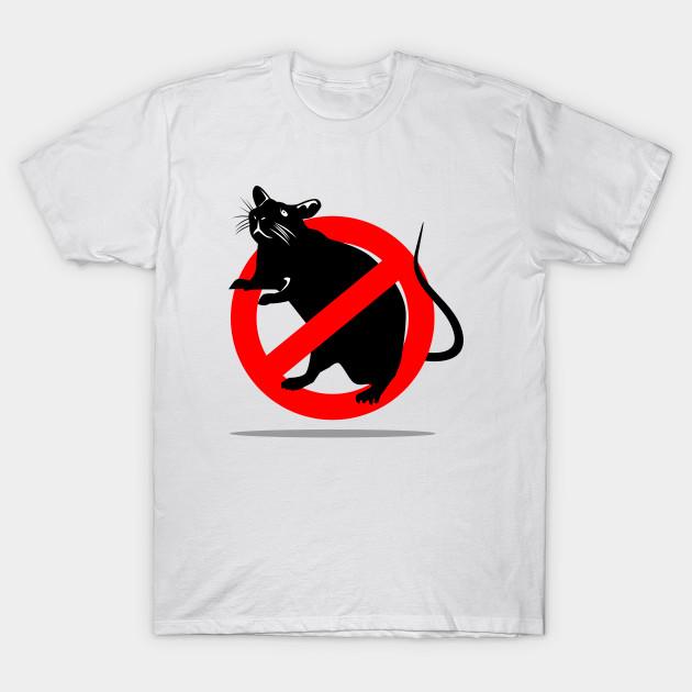 NO RATS  T SHIRT BIKER GANG STYLE FUNNY