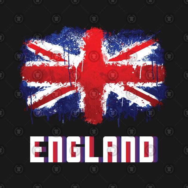 I Love England British English Union Jack Flag