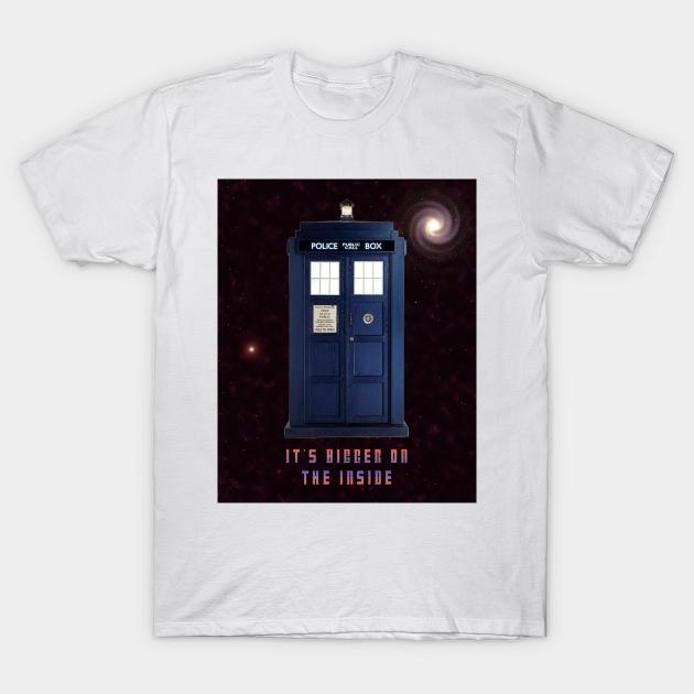 Dr Who Tardis Bigger on the inside Design Kids T-Shirt