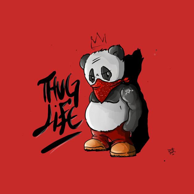 Thug Panda Panda Bear Hoodie Teepublic