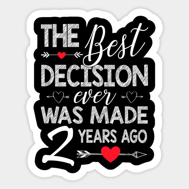 2nd Wedding Anniversary Shirt For Couple 2nd Wedding Anniversary Gifts Sticker Teepublic,Types Of Hamsters Breed