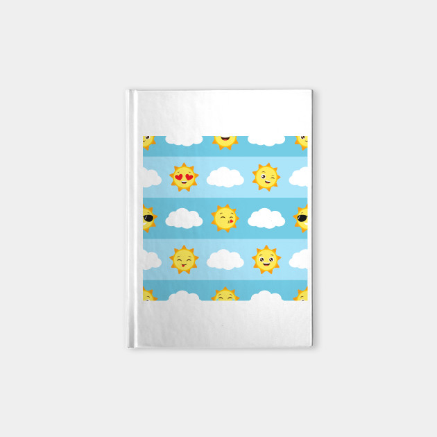 Sun Emojis Vector Clouds