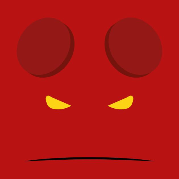 Minimalist Hellboy