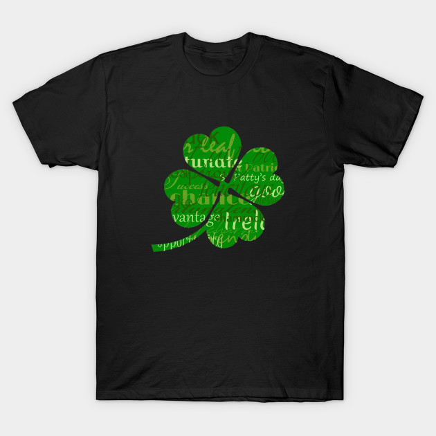 Irelands St patricks day worded 4 leaf shamrock