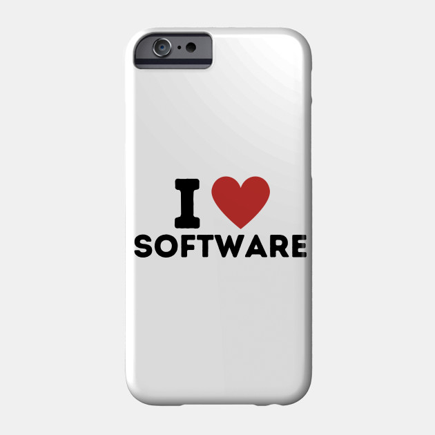 I Love Software Simple Heart Design Software Phone Case Teepublic