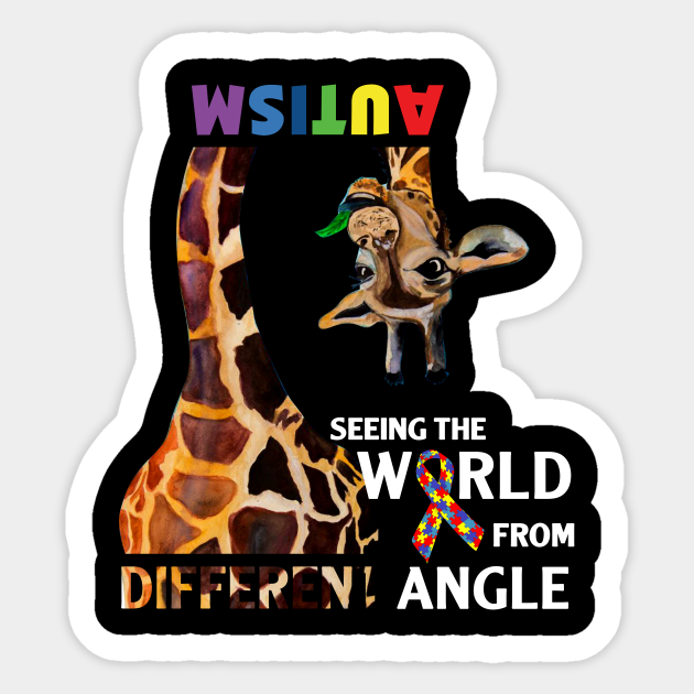 Autism friend love decal special Seeing unique, different white family the world from a different angle child perfect vinyl