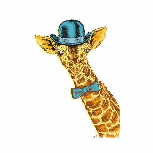 I'm too SASSY for my hat! Vintage Painted Giraffe