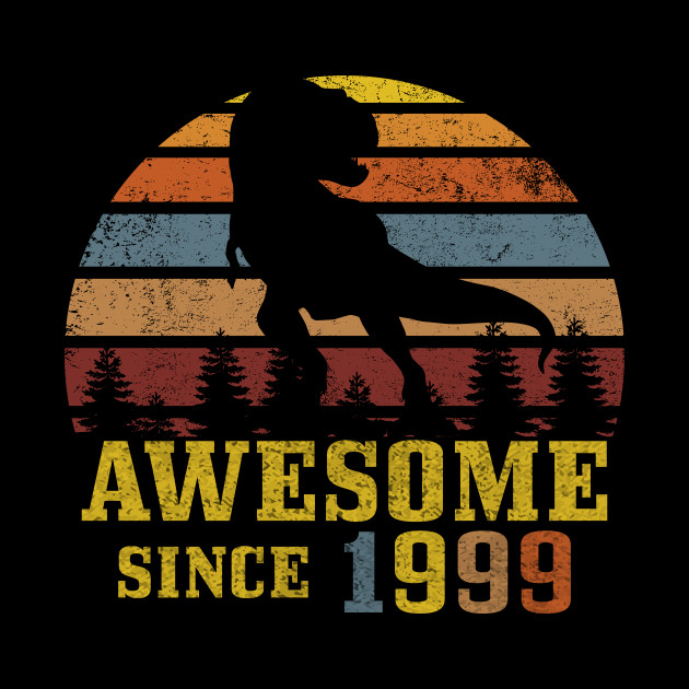 Awesome Since 1999 Dinosaur gift 20th birthday gift