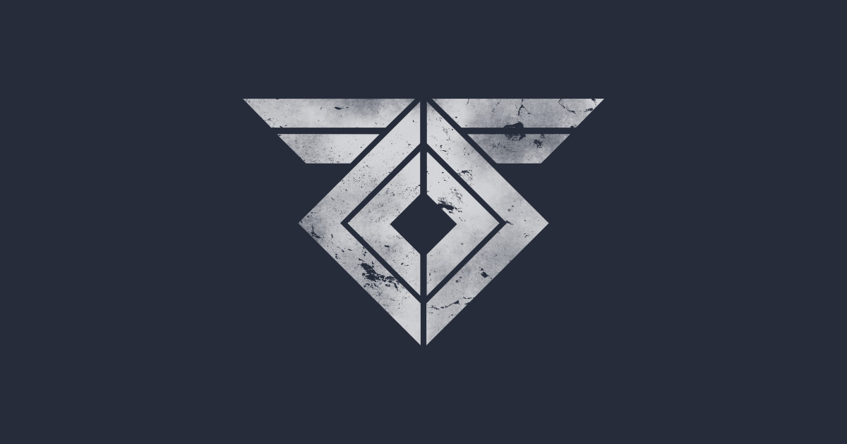 destiny rasputin symbol distressed destiny sticker
