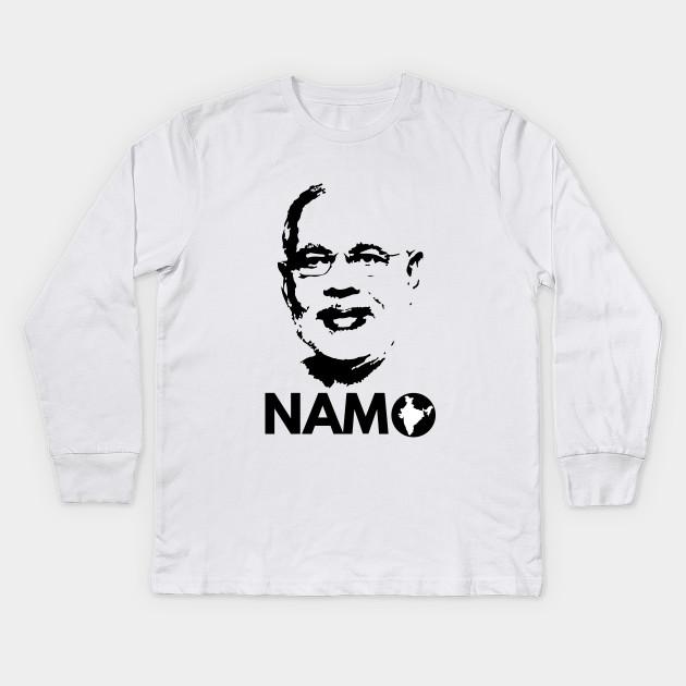 6ea934d0b Narendra Modi Face Namo Again 2019 India BJP T-shirt Kids Long Sleeve T- Shirt