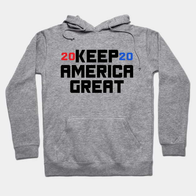 cosngwit Trump 2020 Election USA Keep America Great Hoodies for Adult Back Print