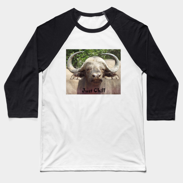 Just Chill Cool Water Buffalo Baseball T-Shirt