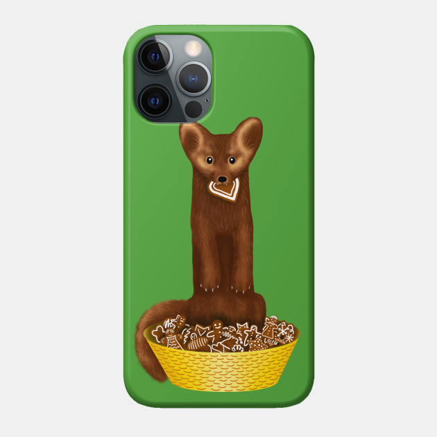 Sable the Gingerbread Cookie Thief (Green Background)