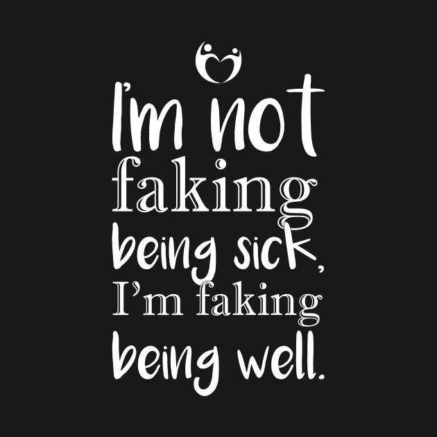 I'm not faking . .