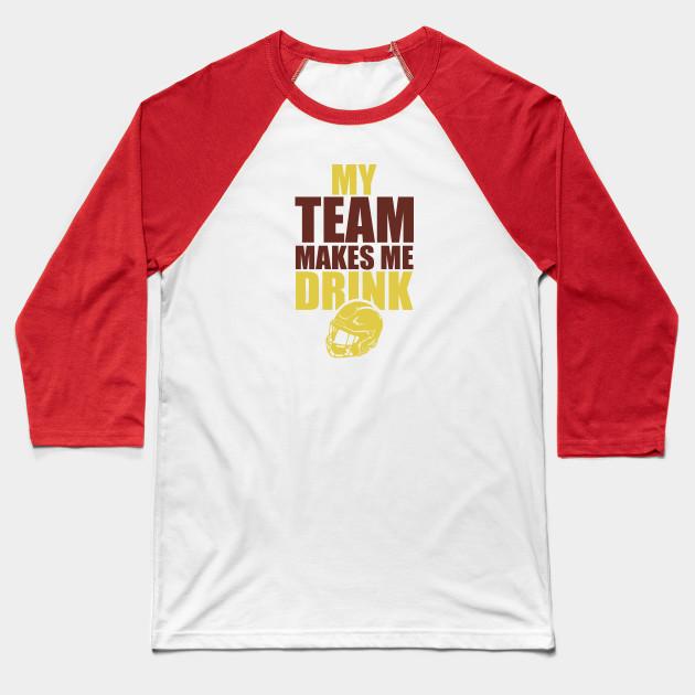 NFL Washington Redskins Rams Drink - Nfl - Baseball T-Shirt  0298dd291