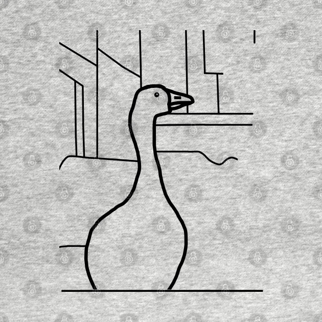 Distracted Boyfriend Meme - Goose detail Outline