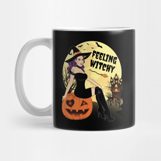 Halloween Witch Feeling Witchy Good Bad Witch Halloween Mug