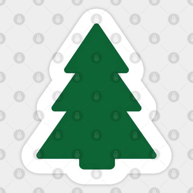 Diy Christmas Tree Drawing Christmas Pegatina Teepublic Mx