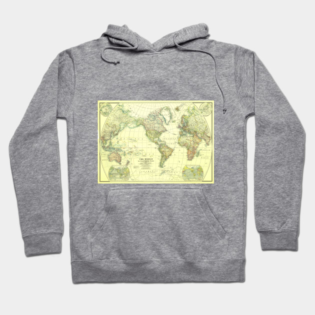 Vintage map of the world 1922 2 world map hoodie teepublic 1895395 1 gumiabroncs Choice Image